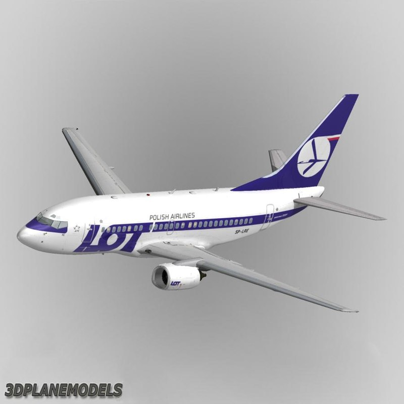 b737-500 lot polish airlines 3d 3ds