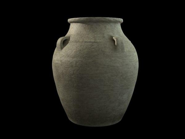 3d arabic pottery model