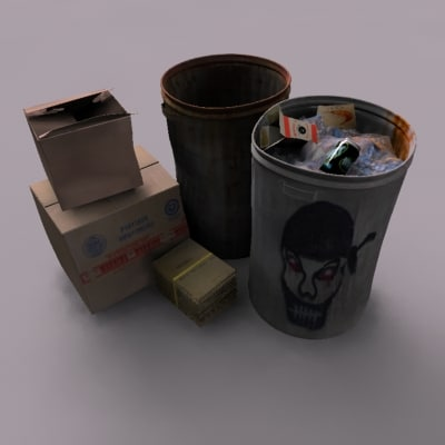 3ds max trash alley