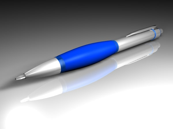 biro pen 3d c4d