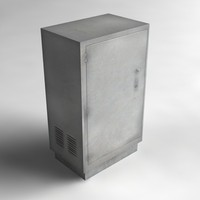 street utility box 3d max