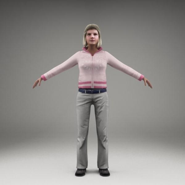 axyz characters human 3d model