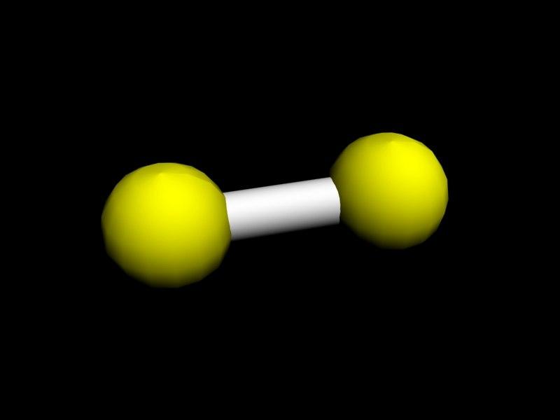3dsmax hydrogen molecule