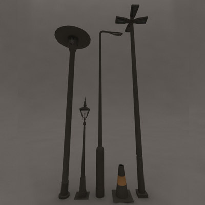 street lamps 3ds