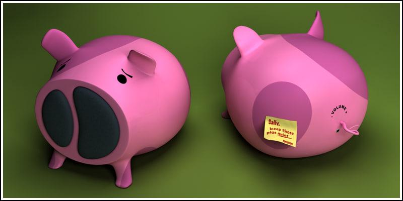 piggy loudspeakers pig 3ds