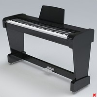 3d model of keyboard instrument electric