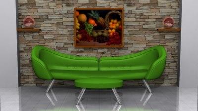 modern sofa 3ds
