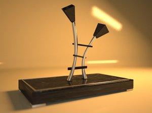 lamp maxwell 3d obj