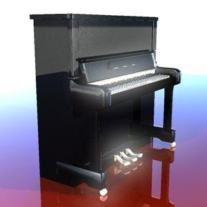 new piano 3d model