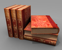 3d red gold book