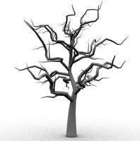 3d scary tree