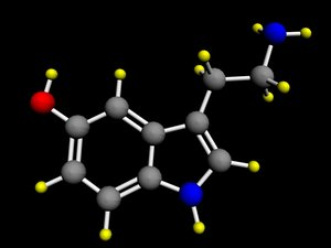 3d model serotonin