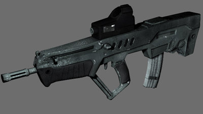 machine gun tavor tar-21 3d model