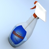 3ds max glass cleaner bottle