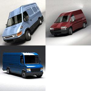 3d van delivery model