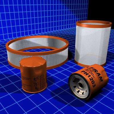 air filters oil 01 3d max