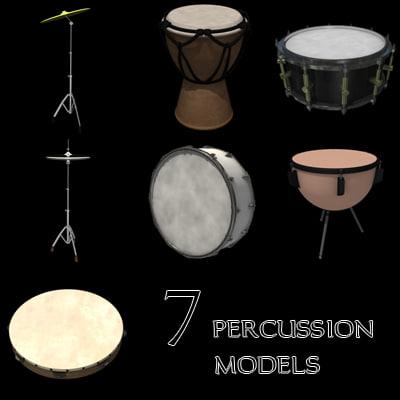 3d model percussion set