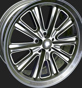 wheels rim obj