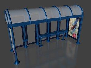 3d model of bus stop
