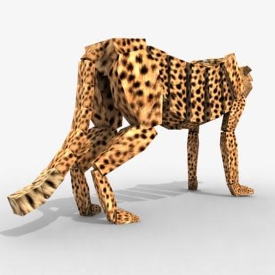 3d max cheetah ready animation