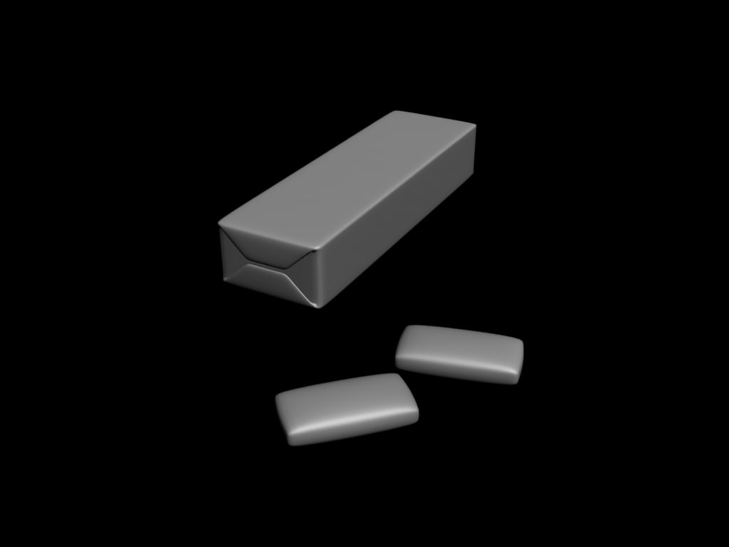 chewing gum 3d model