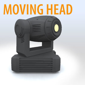 3d 3ds light moving head -