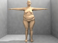 fat man male 3d model