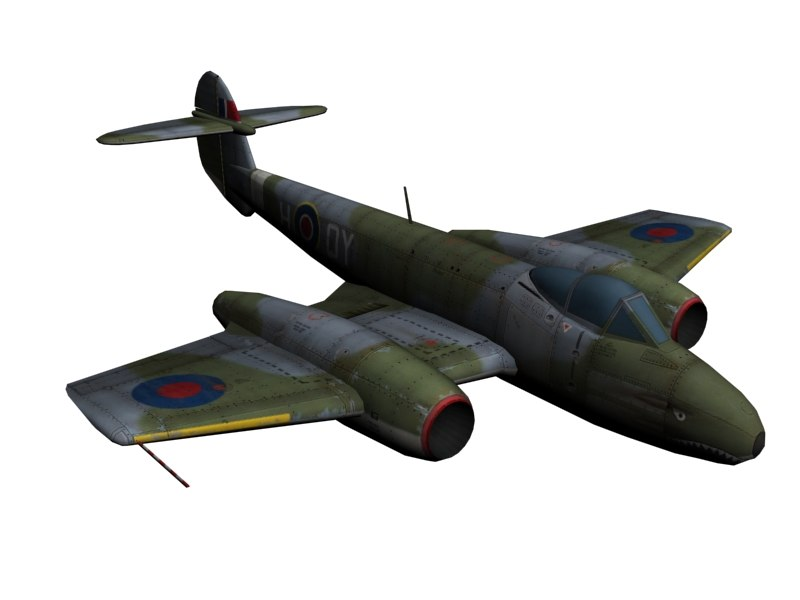 3ds max gloster meteor jet fighter