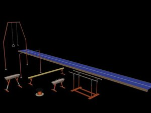 3d exercise gym model
