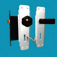 door handle european circa 3d model
