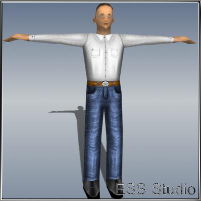 3d male human character