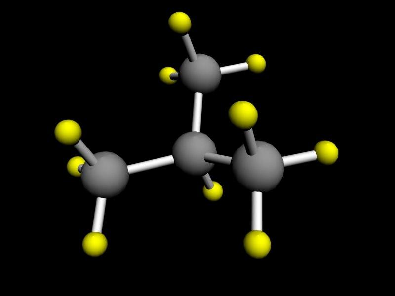 isobutane butane 3d max