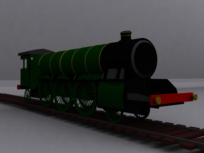 3d model locomotive steam train