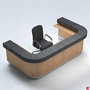 3d model of counter desk