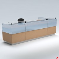 3d model counter desk