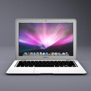 apple macbook air 3d 3ds