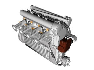 dxf offenhauser engine