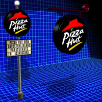 3d pizza hut sign 01 model