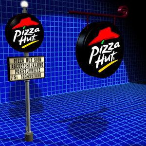 3d pizza hut sign 01 model