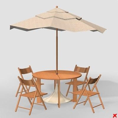 3d model patio furniture for Buiten patio model