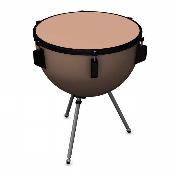 3d percussion timpani model