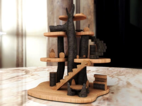 treehouse art 3d lwo