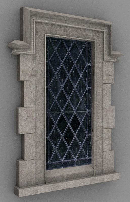 tudor window 3d blend