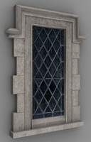 tudor window 3d blend