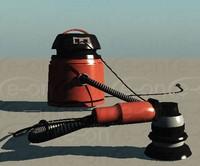 3d vacuum sander model