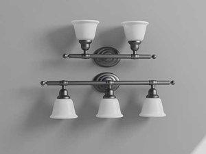 3d bathroom light model