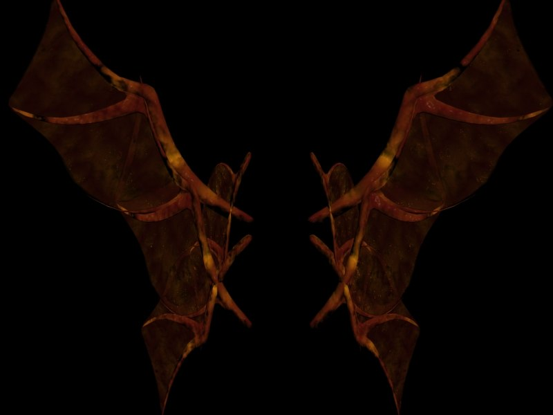 3d demon wing