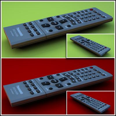 3d panasonic remote control model