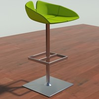 3d fjord stool square green