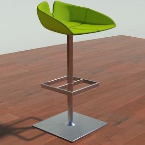 3d fjord stool square green